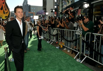 """UNIVERSAL CITY, CA - JUNE 08:  Actor Edward Norton attends the premiere of Universal Pictures' """"The ..."""