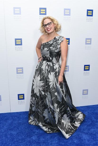 LOS ANGELES, CA - MARCH 10:  Kyrsten Sinema attends Human Rights Campaign's 2018 Los Angeles Gala Di...