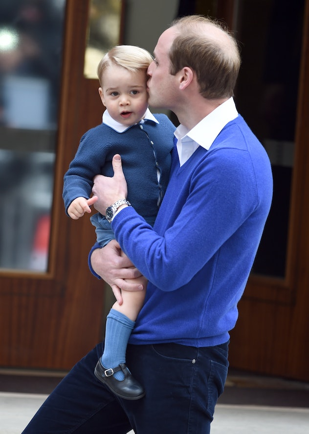 Prince George meets his baby sister.