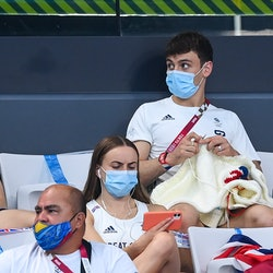 Tokyo , Japan - 2 August 2021; Tom Daley of Great Britain knits during the preliminary round of the ...