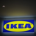 MEXICO CITY, MEXICO - APRIL 08: IKEA logo outside the store during the opening day of the first stor...