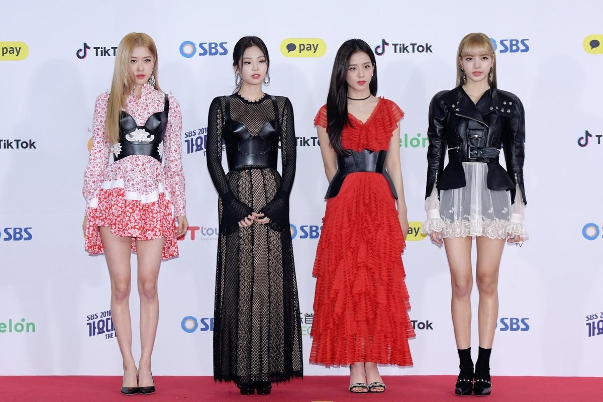 SEOUL, SOUTH KOREA - DECEMBER 25: BLACKPINK attend the 2018 SBS Gayo Daejeon 'Battle of the Bands' a...