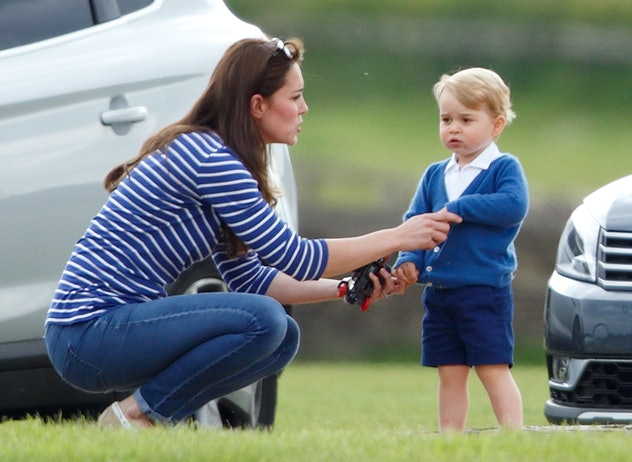 Prince George looking stylish at a polo match.