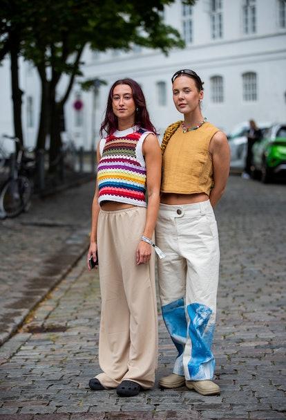 COPENHAGEN, DENMARK - AUGUST 10: Guests seen outside Lovechild on August 10, 2021 in Copenhagen, Den...