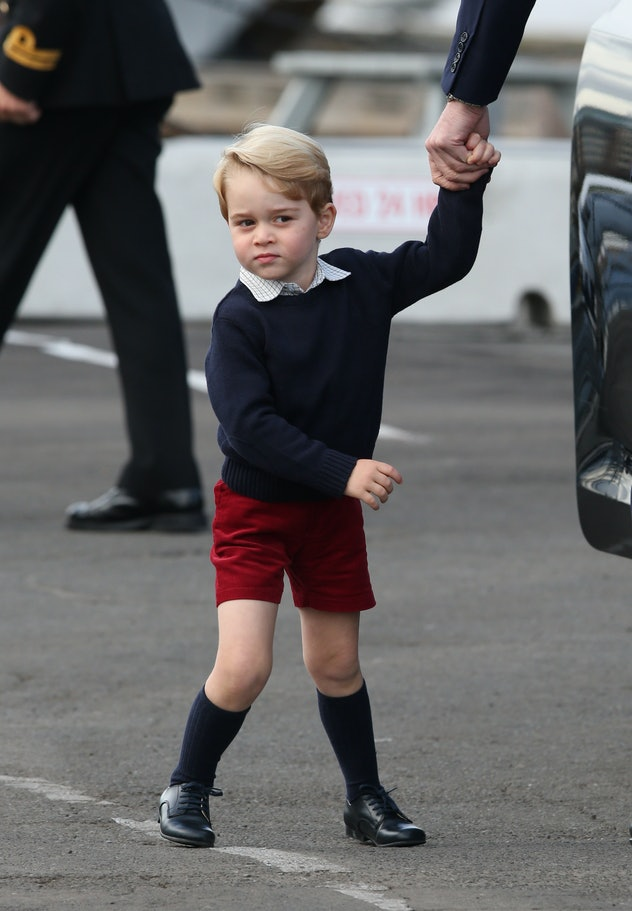 Prince George is ready for rainy west coast weather.