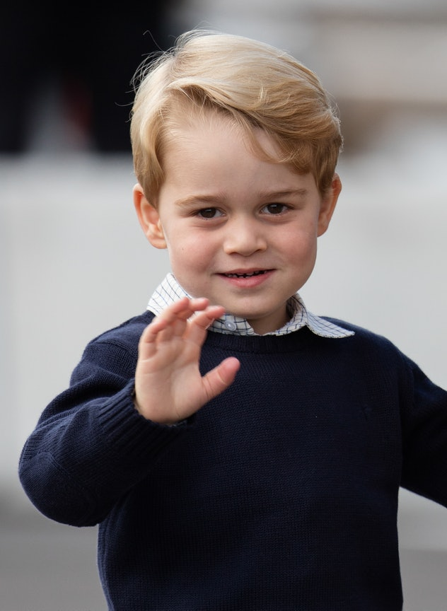 Prince George knows he looks good.