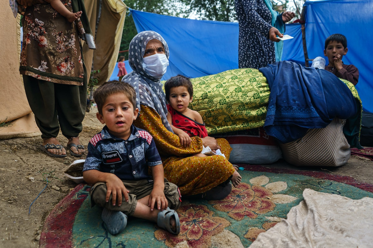 Nooria, 35, an Afghan woman in Kabul, decided to leave her home after the fighting in Kunduz arrived...