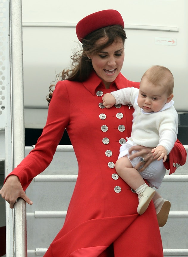Prince George loves a monochromatic sweater look.