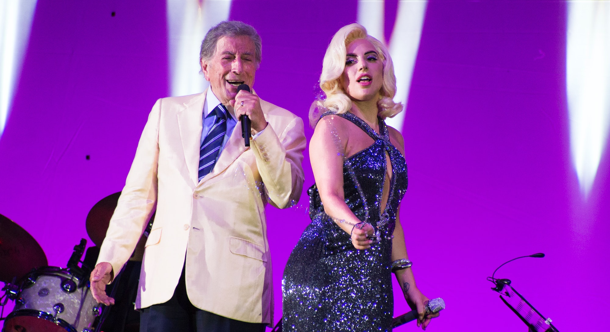 Lady Gaga and Tony Bennett on the Cheek to Cheek tour.