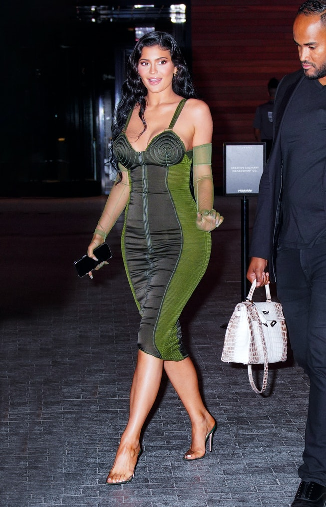 NEW YORK, NEW YORK - JUNE 15: Kylie Jenner departs the 2021 Parsons Award event on June 15, 2021 in ...