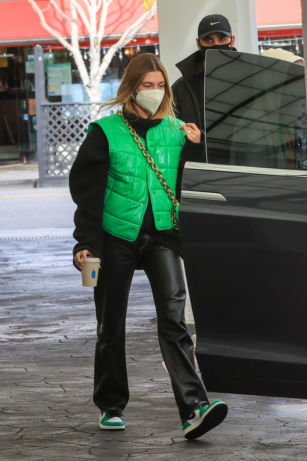 Hailey Bieber in Los Angeles, California in January 2021.