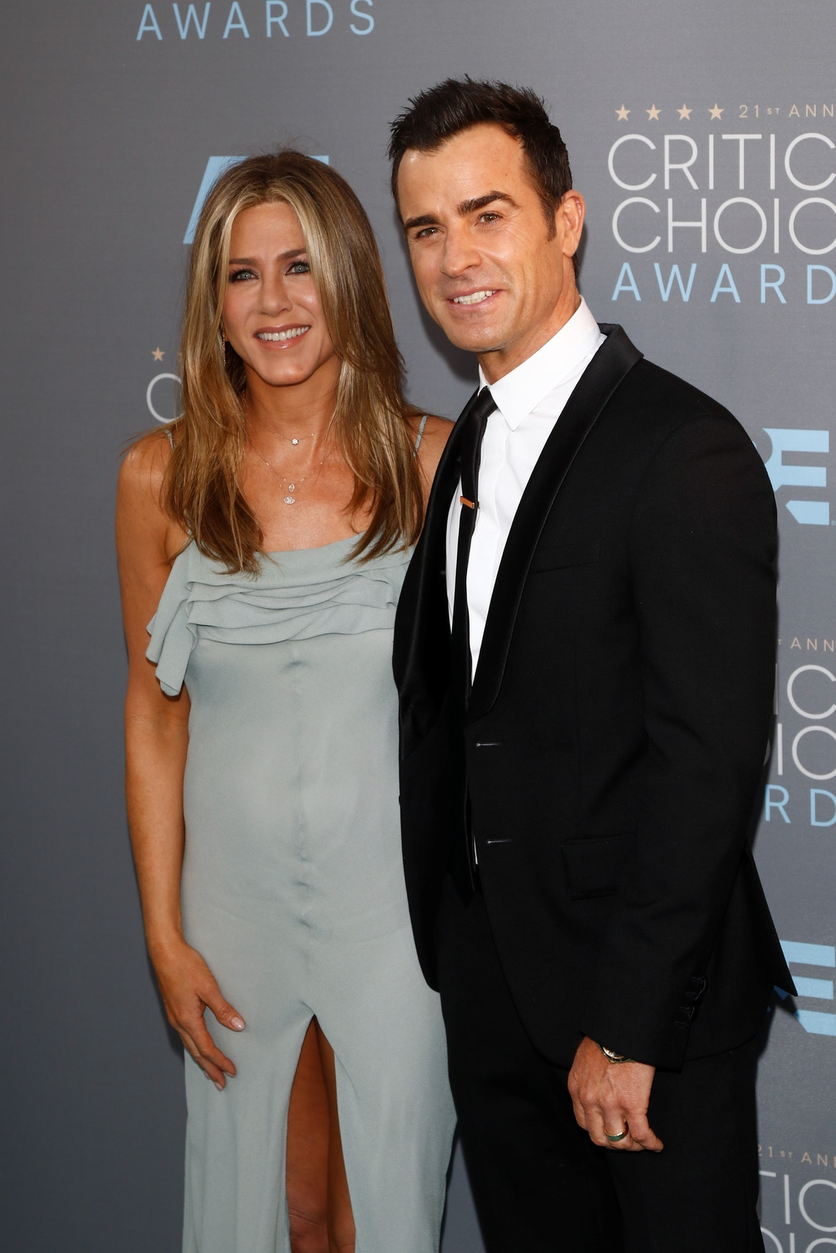 Jennifer Aniston and Justin Theroux were married.