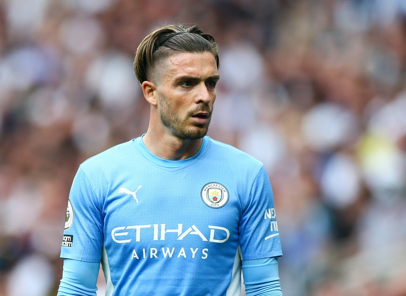LONDON, ENGLAND - AUGUST 15: Jack Grealish of Manchester City during the Premier League match betwee...