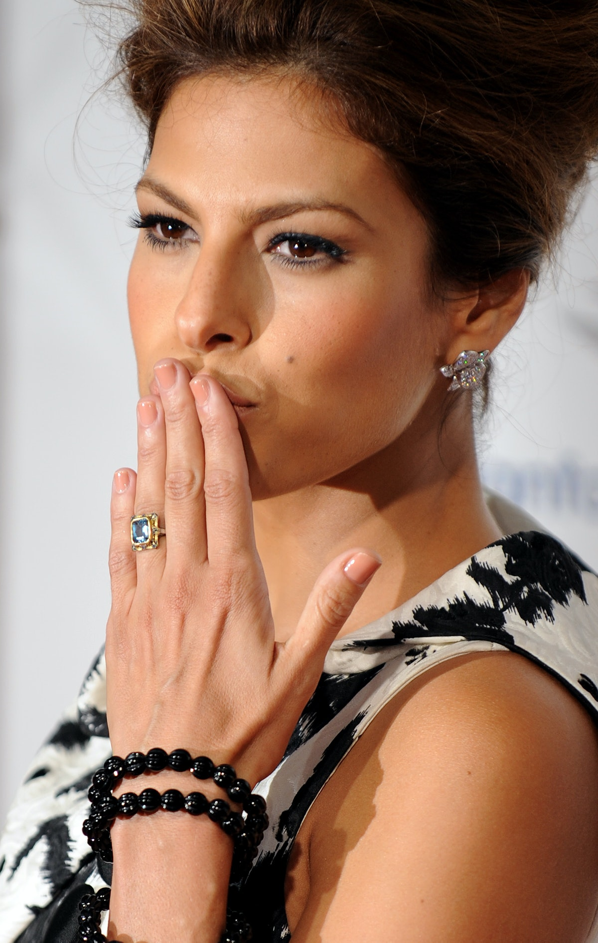 """Actress Eva Mendes arrives at the premiere of """"The Women"""", September 04, 2008 in Westwood, Californi..."""
