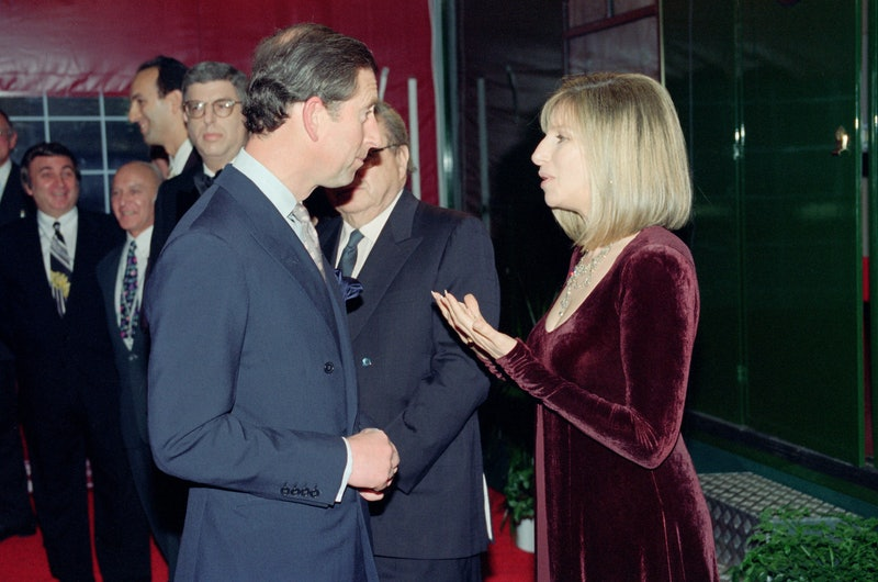 Prince Charles attends a show starring Barbra Streisand. 20th April 1994. (Photo by Kent Gavin/Mirro...