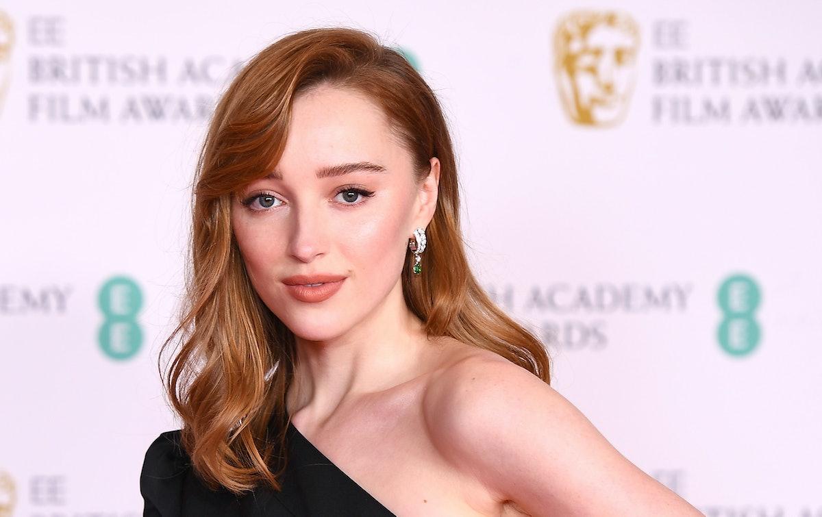 LONDON, ENGLAND - APRIL 11: Awards Presenter Phoebe Dynevor attends the EE British Academy Film Awar...