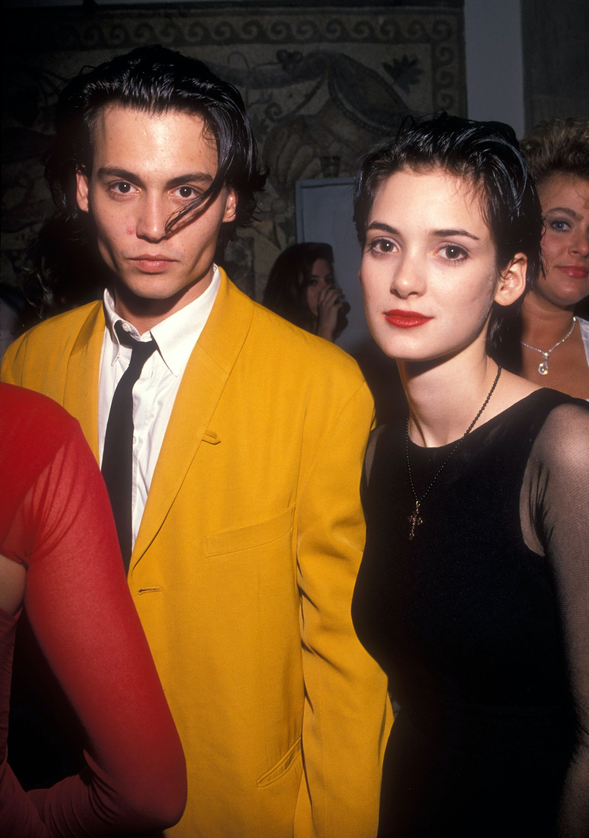 Johnny Depp and Winona Ryder had matching hairstyles in the early aughts. back in the day. Here are ...