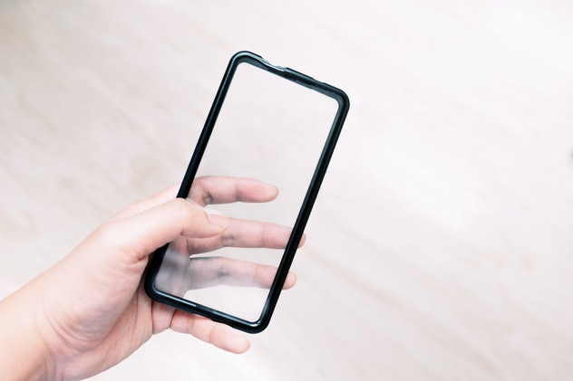 Image of a clear smartphone case.