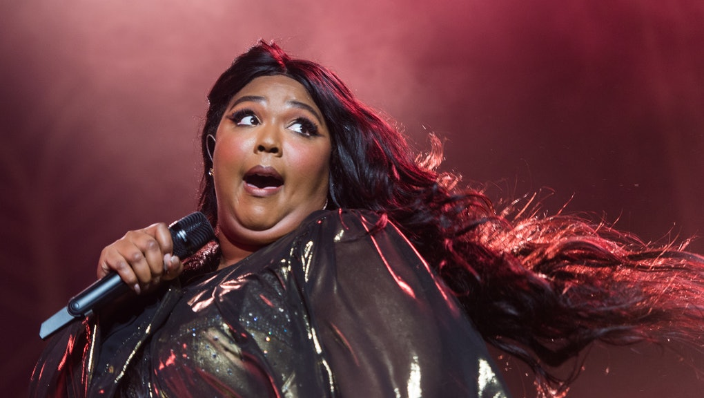 NEW YORK, NEW YORK - SEPTEMBER 22: Lizzo performs during her 'Cuz I Love You Too Tour' at Radio City...