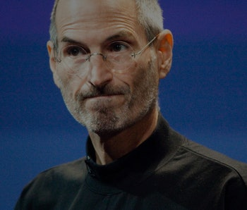 Apple CEO Steve Jobs talks about the Apple iPhone 4 at Apple headquarters in Cupertino on Friday, Ju...