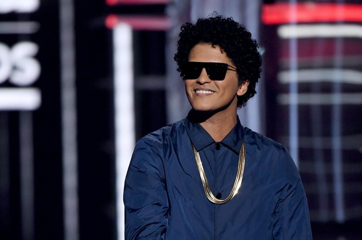 Bruno Mars singing sexy song lyrics.