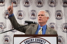 UNITED STATES - AUGUST 4: GOP candidate for U.S. Senate Rep. Mo Brooks, R-Ala., speaks during the U....