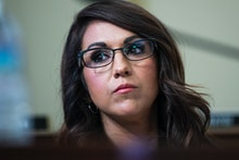 UNITED STATES - JUNE 23: Rep. Lauren Boebert, R-Colo., attends the House Natural Resources Committee...