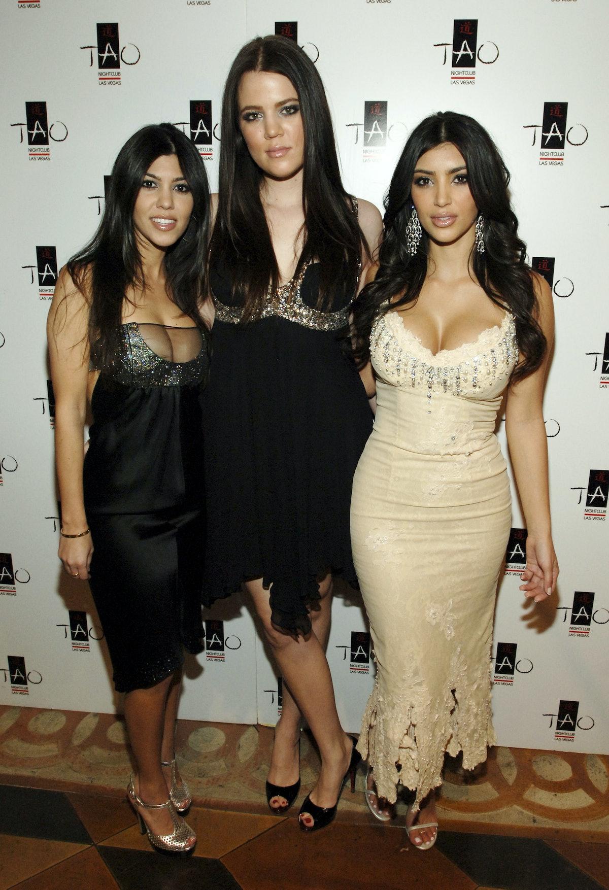 Kourtney Kardashian, Klohe Kardashian and Kim Kardashian (Photo by Denise Truscello/WireImage)