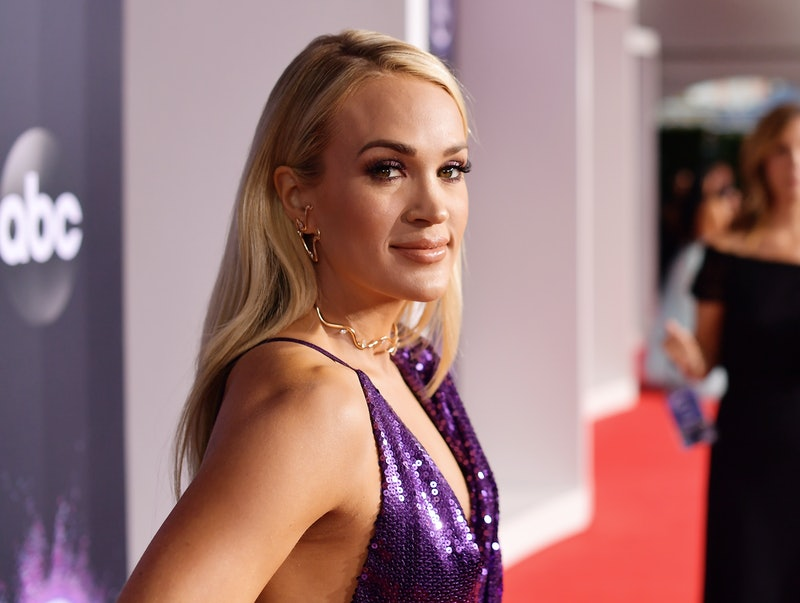 LOS ANGELES, CALIFORNIA - NOVEMBER 24: Carrie Underwood attends the 2019 American Music Awards at Mi...