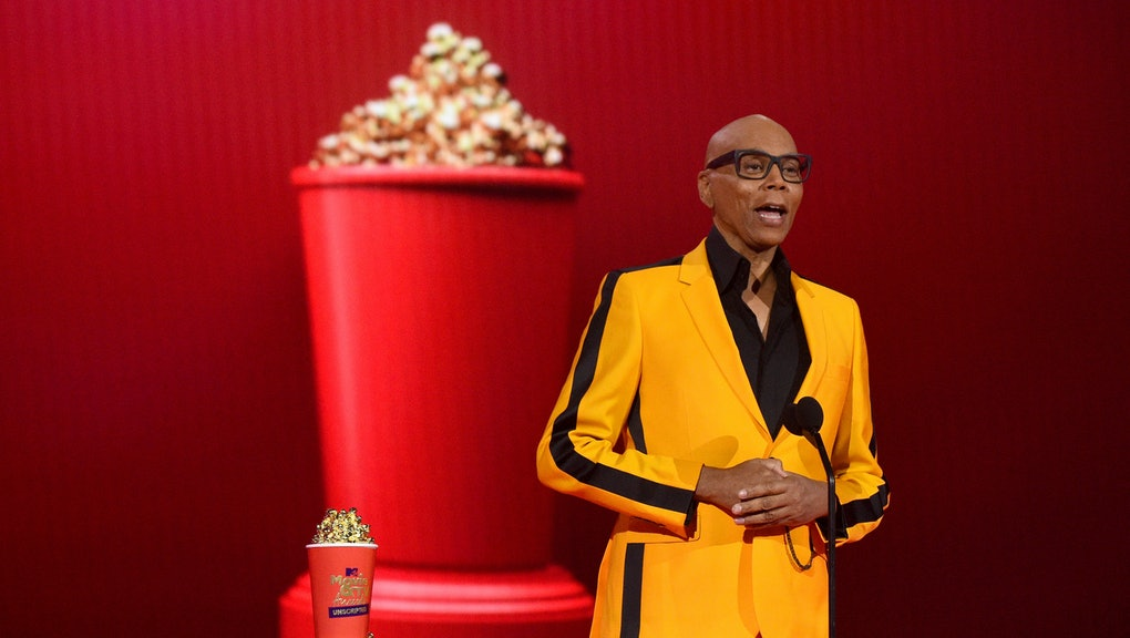 LOS ANGELES, CALIFORNIA - MAY 17: In this image released on May 17, (L-R) RuPaul accepts Best Host f...