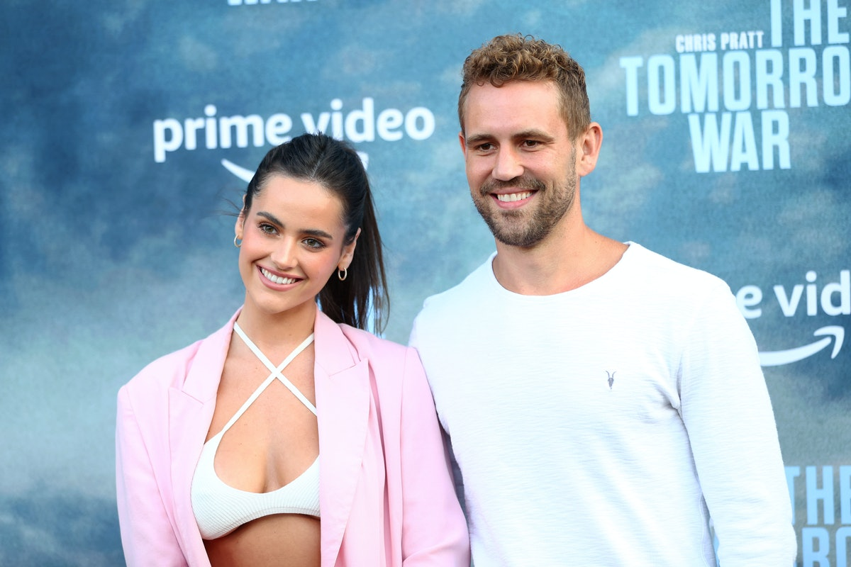 Nick Viall's favorite thing about his girlfriend Natalie Joy is her positive attitude.