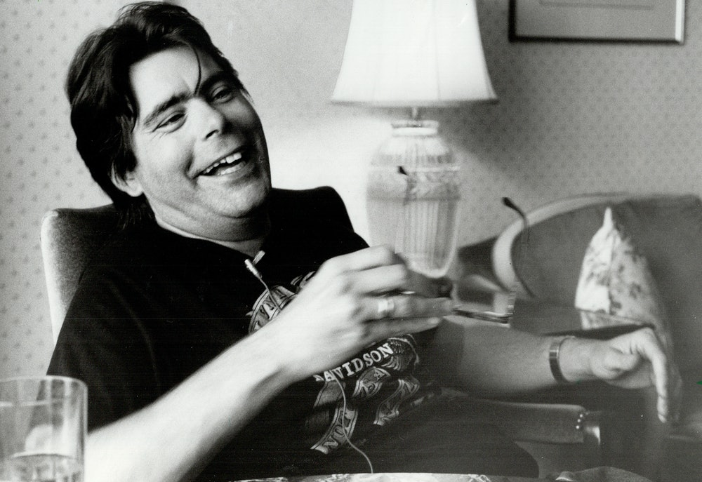 CANADA - JULY 23:  There's always time for a joke: Novelist Stephen King had some fun at the expense...