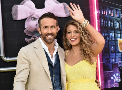 """NEW YORK, NY - MAY 02:  Ryan Reynolds and Blake Lively attend the premiere of """"Pokemon Detective Pik..."""