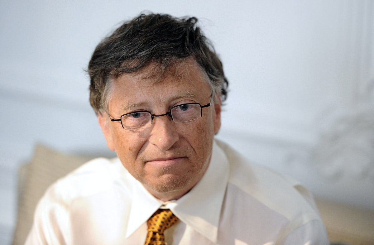 Microsoft founder and philanthropist Bill Gates poses on April 4, 2011 in Paris, as part of his camp...