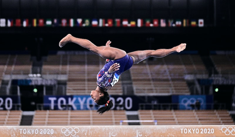 Simone Biles of United States of America during women's qualification for the Artistic  Gymnastics f...