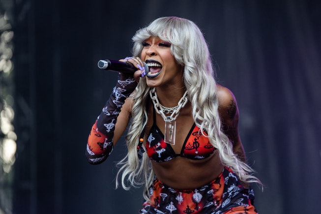 CHICAGO, ILLINOIS - AUGUST 01: Rico Nasty performs during the 30th Anniversary of Lollapalooza at Gr...