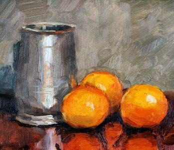 oranges diet painting