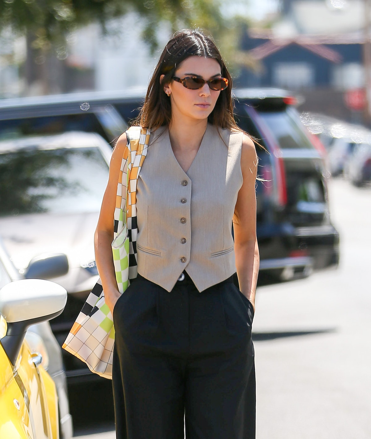 LOS ANGELES, CA - MAY 26: Kendall Jenner is seen on May 26, 2021 in Los Angeles, California.  (Photo...