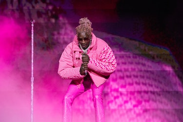 CHICAGO, ILLINOIS - AUGUST 01: Young Thug performs during 2021 Lollapalooza at Grant Park on August ...