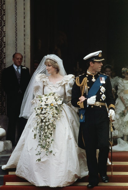 The wedding of Prince Charles and Lady Diana Spencer at St Paul's Cathedral in London, 29th July 198...