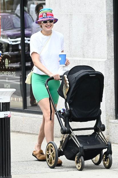 NEW YORK, NY - JULY 29:  Model Gigi Hadid is seen walking in SoHo on July 29, 2021 in New York City....