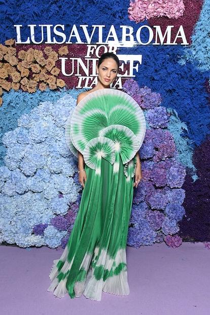 CAPRI, ITALY - JULY 31: Eiza González attends the LuisaViaRoma for Unicef event at La Certosa di San...