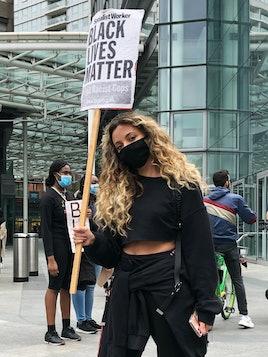 LONDON, UNITED KINGDOM - JUNE 07: Singer Jade Thirlwall of Little Mix attends a Black Lives Matter p...