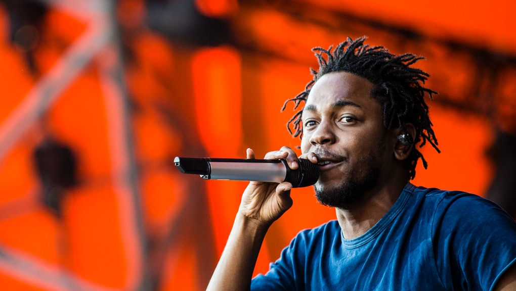Roskilde, Denmark. 03rd, July 2015. Kendrick Lamar, the American rapper and lyricist, performs a liv...
