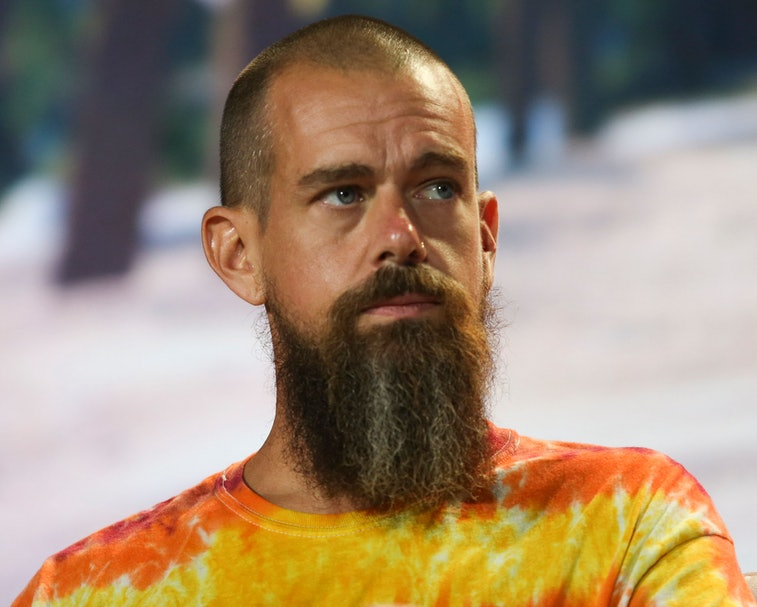 Jack Dorsey, CEO of Twitter and co-founder & CEO of Square, attends the crypto-currency conference B...