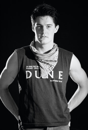 Kyle MacLachlan, acteur, lors du tournage du film 'Dune' en décembre 1984 à Londres, Royaume-Uni. (P...