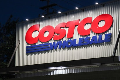 SEATTLE, UNITED STATES - 2021/07/24: The Costco logo is seen on the exterior of a store in Seattle. ...