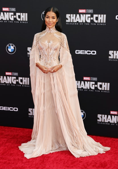 """LOS ANGELES, CALIFORNIA - AUGUST 16: Jhené Aiko attends Disney's premiere of """"Shang-Chi And The Lege..."""