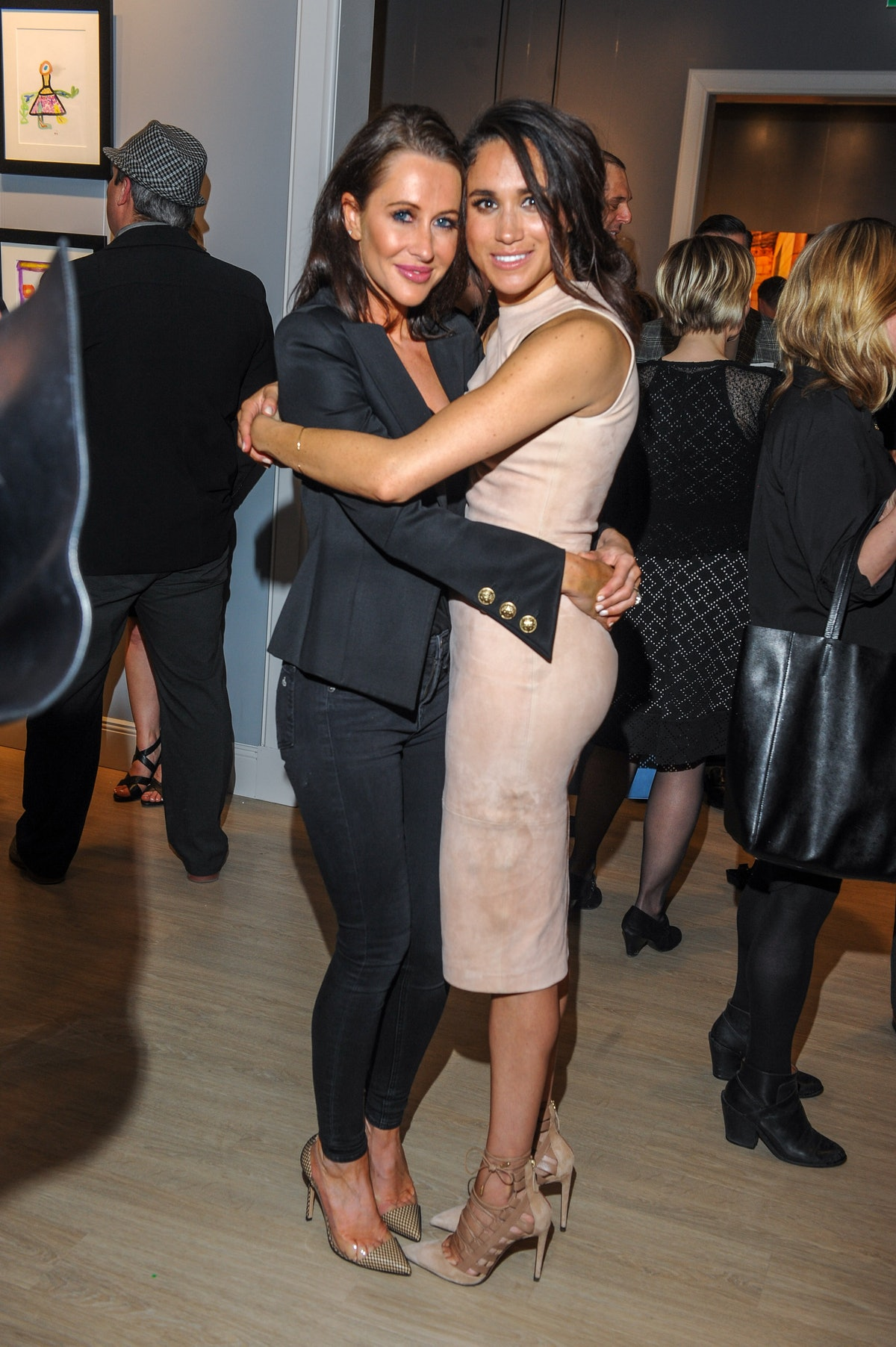 TORONTO, ON - MARCH 22:  Jessica Mulroney and actress Meghan Markle attend the World Vision event he...