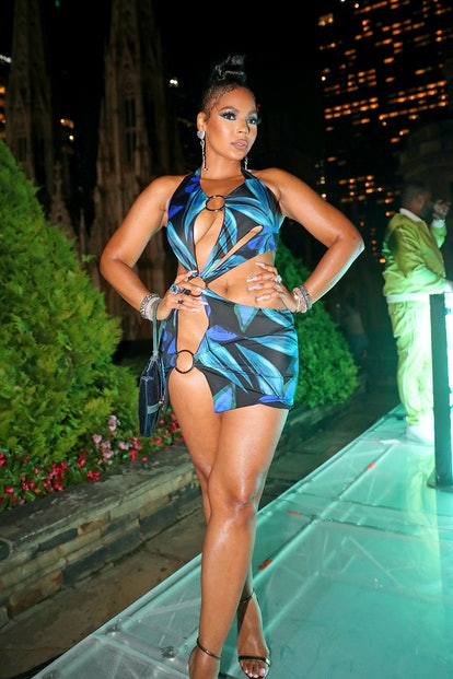 NEW YORK, NEW YORK - AUGUST 20: Ashanti attends Fat Joe's Birthday Party on August 20, 2021 in New Y...